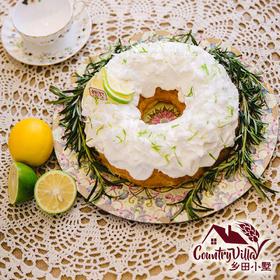 青柠椰香花环裸蛋糕