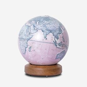 HomelyGlobe 书房客厅摆件 实木标准圆底灰湖绿地球仪32cm(运费单拍)