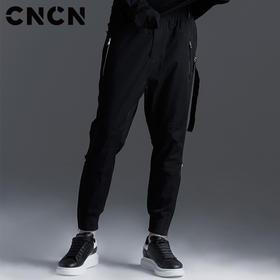 CNCN男装 春季男士休闲裤 潮牌卫裤青年束脚裤男裤子修身小脚裤 CNBK11090
