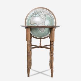 HomelyGlobe 书房客厅摆件 实木四柱灰湖绿地球仪45cm(运费单拍)