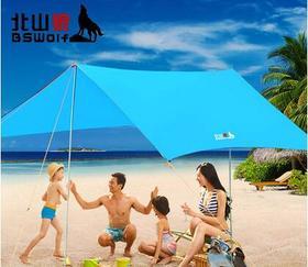 遮阳天幕沙滩帐多人遮阳棚户外凉棚雨篷防晒防雨天幕帐篷
