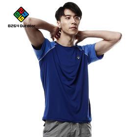 8264户外休闲运动速干衣2017新品男士拼色功能圆领T恤吸湿快干衣