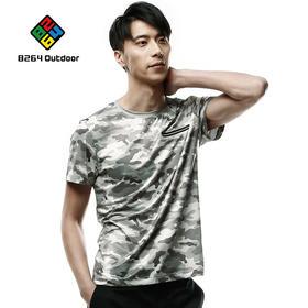8264户外休闲衣2017夏季新品男士迷彩圆领吸湿排汗短袖舒适T恤