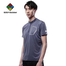 8264户外功能小立领T恤2017夏季男士新品舒适吸湿排汗运动短袖