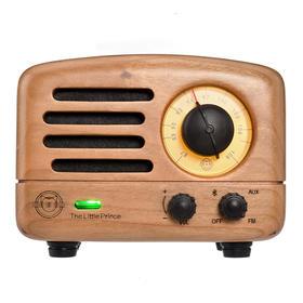 MAO KING 猫王小王子蓝牙音箱木质手机小音响 多木可选 复古实木迷你收音机