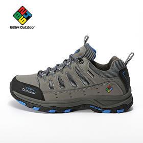 8264 户外男款磨砂皮徒步鞋秋冬季低帮防滑耐磨减震透气登山鞋子