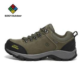 8264 户外徒步鞋男秋冬季防滑耐磨减震低帮磨砂牛皮登山爬山鞋子