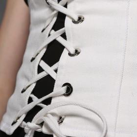 SYUSYUHAN独立设计师女装 春夏新品水洗牛仔宫廷感绑带腰封宽腰带