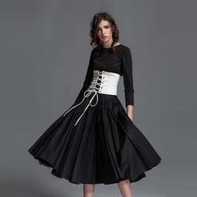 SYUSYUHAN设计师秀场改良款 超美精梳棉超大摆气场网撑春夏连衣裙