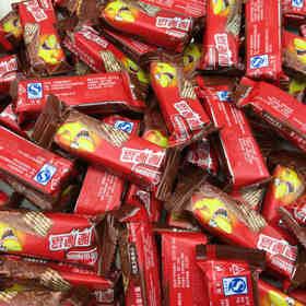 年货雀巢脆脆鲨威化巧克力味夹心饼干散装500g奶香花生多规格
