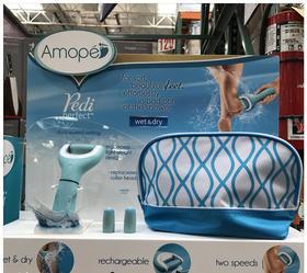 美国直邮 Amope Pedi电动修脚器防水 自动去死皮老茧磨去除硬皮