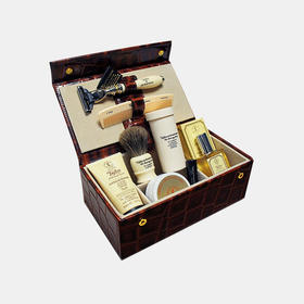 Taylor顶级男士全副武装剃须真皮礼盒 7 件套 |2 款(英国)