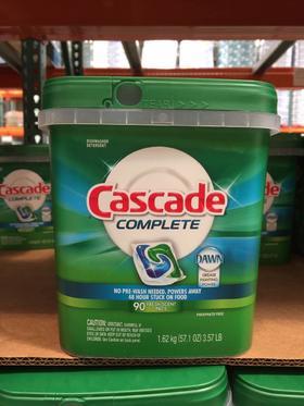 美国直邮 Cascade complete 洗碗机专用洗洁精独立包装1.62kg
