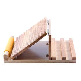 医行天下清漆拉筋板实木材质三档可调节拍打拉筋脚底按摩凳