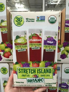 美国直邮 Stretch Island天然非无机纯果肉果汁果丹皮14g×36条