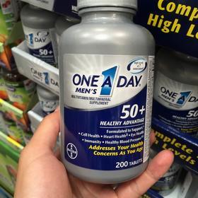 美国直邮 Bayer拜耳One A Day银片50+中老年男性复合维生素 220粒