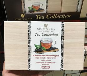 美国直邮 Wissotzky手工茶叶英式绿茶黑茶4种口味 72包180g