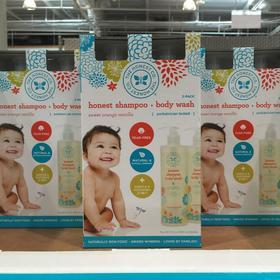 美国直邮 The honest天然婴儿洗发沐浴乳成人适用500ml×2瓶
