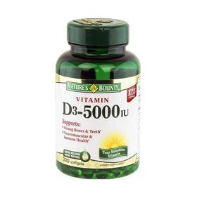 美国直邮 自然之宝Nature's Bounty 维生素D3-5000IU胶囊 300粒