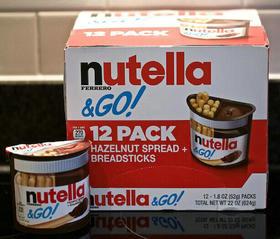 美国直邮 nutella 费列罗能多益榛子巧克力酱手指饼干52g×12盒