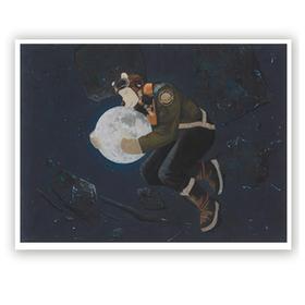 青年艺术家胡扬 | 签名限量版画《月光》