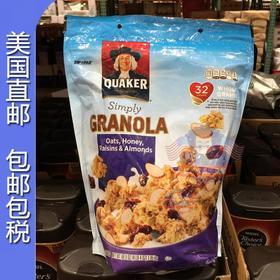 美国直邮 Quaker桂格天然麦片速溶蜂蜜杏仁味 无反式脂肪1.95kg