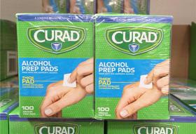美国直邮 CURAD消毒棉 一次性家庭医用酒精消毒棉片 4盒包邮