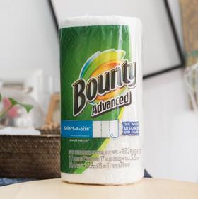 美国直邮 BOUNTY帮庭吸油去污料理厨房用纸可反复使用 单卷117张