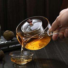 永利汇加厚耐热全玻璃茶壶玻璃茶具可加热透明泡茶壶带内胆煮茶壶烧水壶