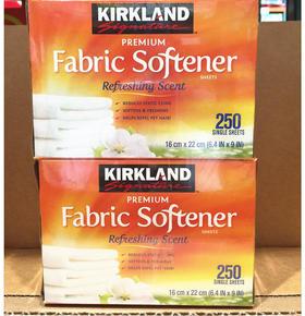 美国直邮 Kirkland柯克兰柔顺纸香衣纸烘干机用250片 2盒