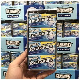 美国直邮 ICE BREAKERS冰块木糖醇口香糖无糖薄荷味80片