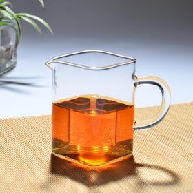 永利汇 玻璃公道杯 耐热加厚茶海分茶器 高硼硅功夫茶具四方公杯