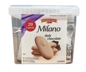 美国直邮 Milano非凡米兰黑巧克力夹心曲奇饼干20包 425g