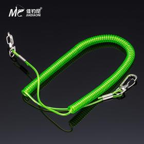佳钓尼5米10米钢丝弹簧伸缩式失手绳 高弹力护竿绳 鱼竿钢丝绳