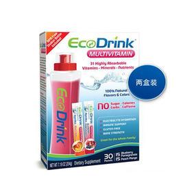 美国直邮 EcoDrink多种维生素矿物质营养饮料 配筛瓶 30包