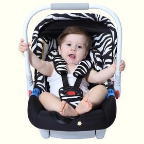 Zazababy提篮式儿童安全座椅,0-12个月婴儿汽车用车载升级款可搭配推车