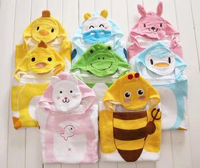 厂家直销 儿童连帽浴巾浴披 卡通动物造型浴袍  秋冬热卖款
