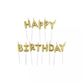 金色happy birthday(本产品需与蛋糕一起拍下,不单独售卖)