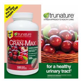 美国直邮Trunature蔓越莓胶囊浓缩精华妇科泌尿系统保护卵巢180粒