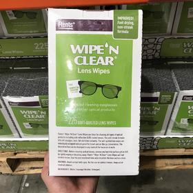 美国直邮Wipe N Clear镜头擦镜纸 眼镜纸 镜头纸 清洁湿巾 225片  12cm/片