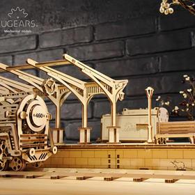 乌克兰ugears木质DIY模型上新:电车风景线套装