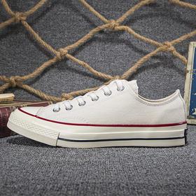【情侣款】三星标1970s真标 米白低帮帆布鞋 高帮 低帮
