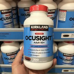美国直邮 Kirkland Ocusight成人维生素叶黄素护眼胶囊50+ 300粒