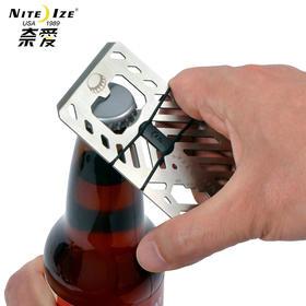 Niteize奈爱不锈钢多功能军刀卡 EDC便携式户外组合工具创意钱夹
