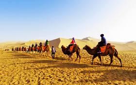 【丝绸之路】张掖丹霞、莫高窟、鸣沙山月牙泉、青海湖、雅丹魔鬼城9日大漠风情之旅