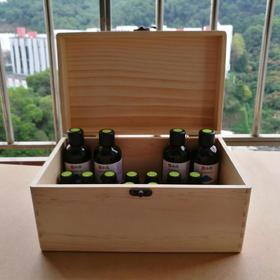 精油木箱 32格混装 可放50毫升以内的任何瓶 木盒