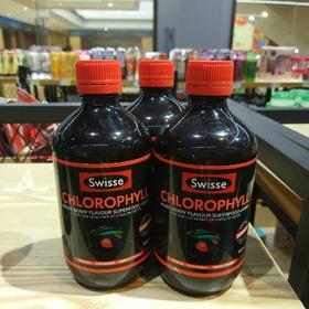 现货澳洲代购Swisse叶绿素液体SW梅子味口服液美颜美肤500g。17.7-9到期亏本价