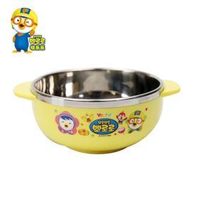 pororo啵乐乐韩国进口儿童餐具不锈钢卡通玉米碗宝宝餐具儿童饭碗
