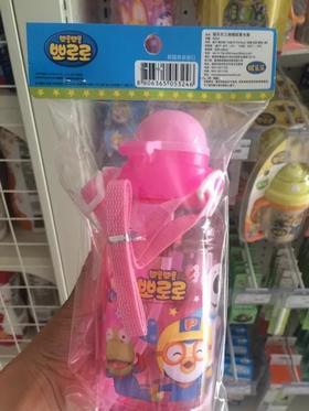 啵乐乐儿童三角帽吸管水壶温水