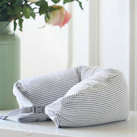 天竺棉多功能微粒子U型枕 颈椎放松 旅行出游 舒适柔软枕头靠枕 热卖 <WLJ4F0>